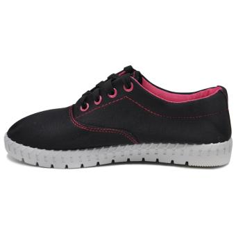 Tanggo Alena Fashionable Sneakers Women's Rubber Shoes (black) - 2