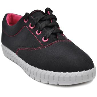 Tanggo Alena Fashionable Sneakers Women's Rubber Shoes (black)