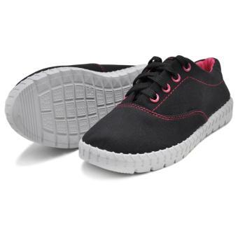Tanggo Alena Fashionable Sneakers Women's Rubber Shoes (black) - 3