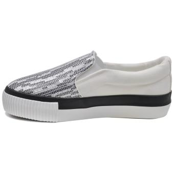 Tanggo Carlyne Fashion Sneakers Slip-On Wome's Rubber Shoes (white) - 2