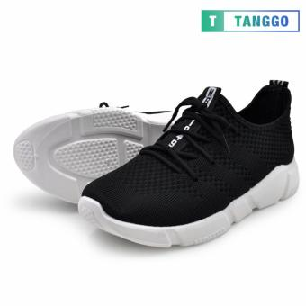 Tanggo Fashion Fly Woven Sneakers Shoes for Men C-3 (Black) - 3