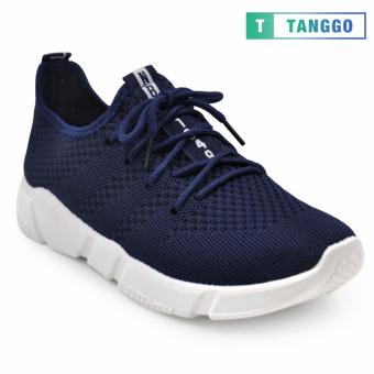 Tanggo Fashion Fly Woven Sneakers Shoes for Men C-3 (Navy Blue)