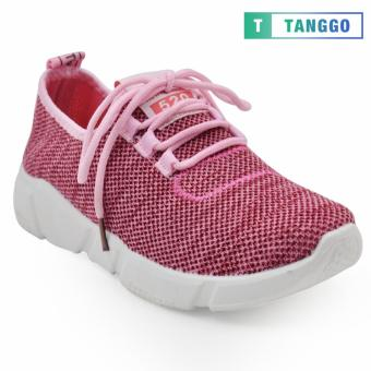 Tanggo Fashion Mesh Sneakers Shoes for Women 1006 (Pink)
