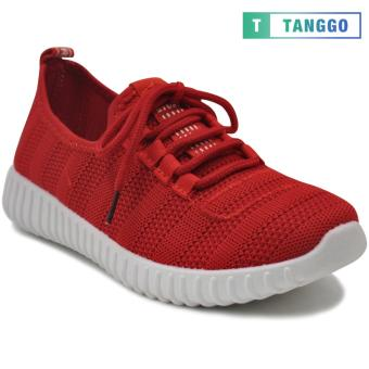 Tanggo Fashion Mesh Sneakers Shoes for Women 3533 (red/white)