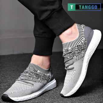 Tanggo Fashion Sneakers Korean Canvas Shoes for Men 923 (white/grey) - 4
