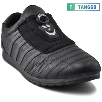 Tanggo Fashion Sneakers Men's Rubber Shoes Slip-On 888 (black/grey)
