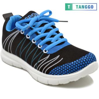Tanggo Fashion Sneakers Rubber Shoes for Women - ZF788-49(black/blue)