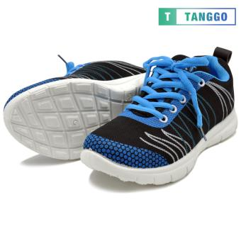 Tanggo Fashion Sneakers Rubber Shoes for Women - ZF788-49(black/blue) - 3