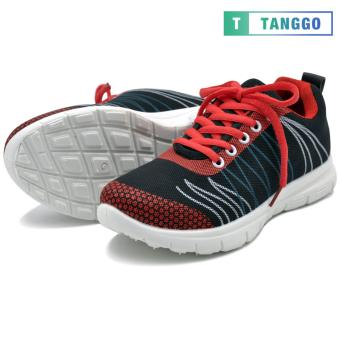 Tanggo Fashion Sneakers Rubber Shoes for Women - ZF788-49(black/red) - 3