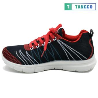 Tanggo Fashion Sneakers Rubber Shoes for Women - ZF788-49(black/red) - 2