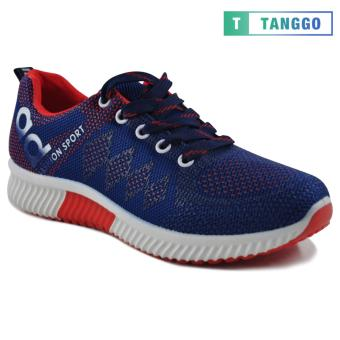 Tanggo Fashion Sneakers Women's Rubber Shoes 308A (navy blue/red) - 3