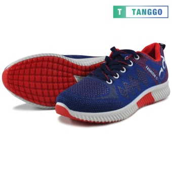 Tanggo Fashion Sneakers Women's Rubber Shoes 308A (navy blue/red) - 2