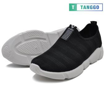 Tanggo Fashion Woven Fabric Shoes Men's Slip-On C-1 (black)