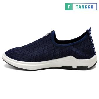 Tanggo Fashion Woven Fabric Shoes Men's Slip-On 107 (navy blue) - 3