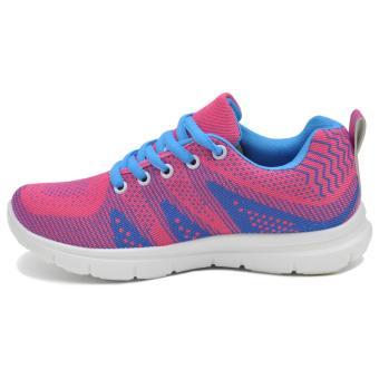 Tanggo Gabi Fashion Sneakers Women's Rubber Shoes ( lightblue/pink) - 2