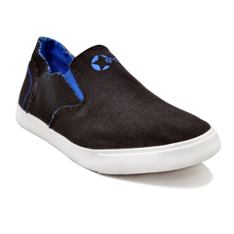 Tanggo Kenny Low Cut High Quality Sneakers Slip On Men's CasualRubber Shoes (Black) Price Philippines