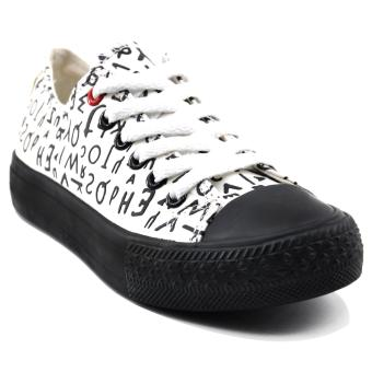 Tanggo Kitty Fashion Sneakers Women's Rubber Shoes (White)