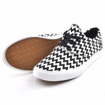 Tanggo Lewis Fashion Sneakers Men's Rubber Shoes (Black) - 3