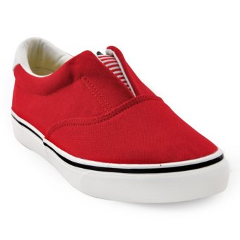 Tanggo Miko Fashion Sneakers Men's Flat Shoes Slip-On (red)