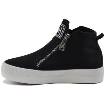 Tanggo Push Fashion Sneakers Women's High Cut Rubber Shoes (black) - 2