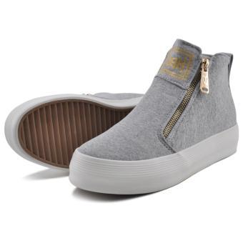 Tanggo Push Fashion Sneakers Women's High Cut Rubber Shoes (grey) - 3