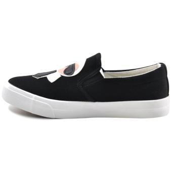 Tanggo Sandy Fashion Sneakers Women's Rubber Shoes Slip-On (black) - 2