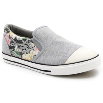 Tanggo Slip-On High Quality Sneakers Women's Casual Rubber Shoes T521 (Grey)