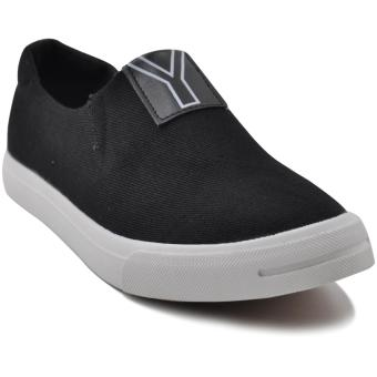 Tanggo Vance Fashion Sneakers Men's Slip-On Rubber Shoes (black)