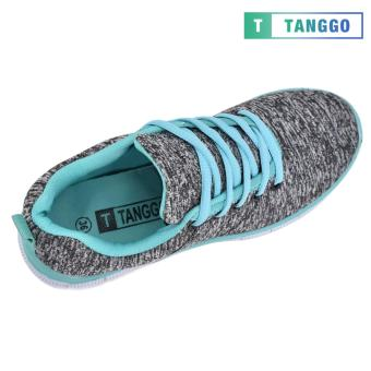 Tanggo Women's Sneakers Rubber Shoes 59-2 with Free 1 Precious Herbal Way Foot Powder 50g (grey) - 2