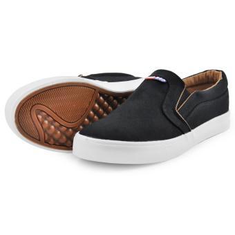 Tanggo Xin Fashion Sneakers Men's Flat Shoes Slip-On (black) - 3