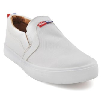 Tanggo Xin Fashion Sneakers Men's Flat Shoes Slip-On (white)