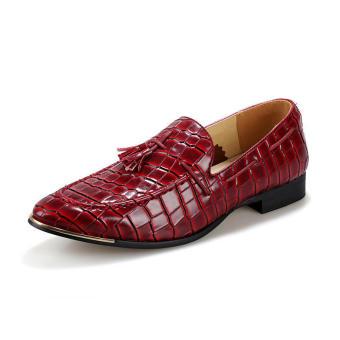 Tassel Slip-Ons Flat Shoes - Red