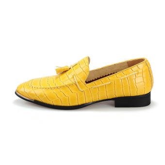 Tassel Slip-Ons Flat Shoes Yellow - picture 2