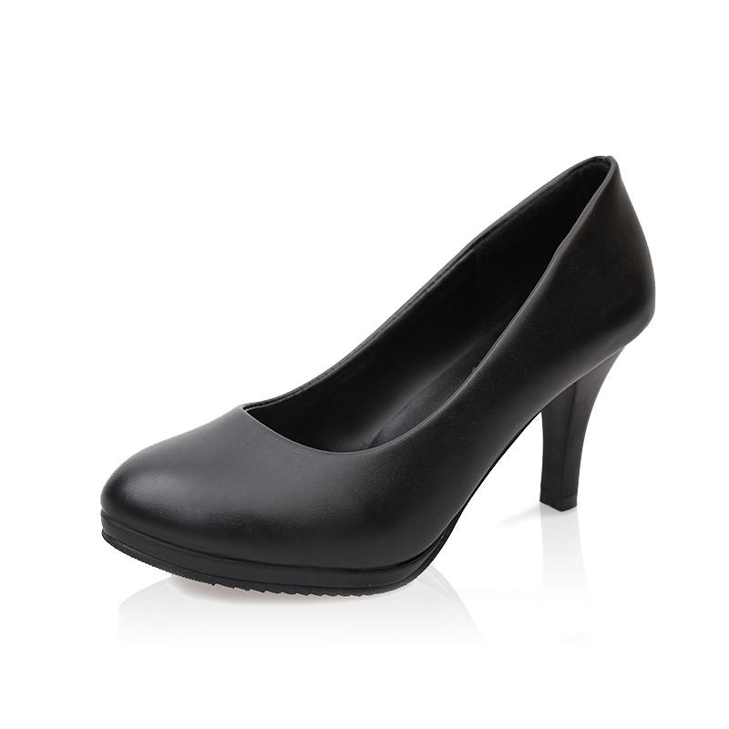 2549c400b86 ... Tauntte Women OL Shallow Thin Heels Pumps Round Toe High HeelsOffice Formal  Shoes With Platform For ...