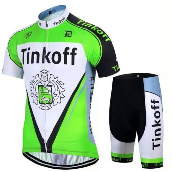 Team Saxo Bank Tinkoff Breathable Cycling Jersey/ Racing Bike Clothing /Mans Cycling Clothes Sportwear Bike Clothes X35-04 - intl