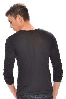 Tex-Cock Long Sleeves Camisa de Chino (Black) - 2