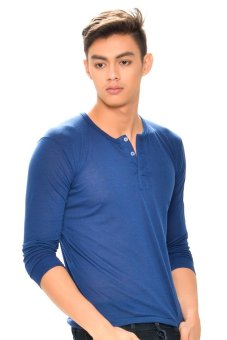 Tex-Cock Long Sleeves Camisa de Chino (Navy Blue) Price Philippines