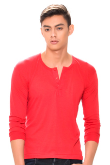 Tex-Cock Long Sleeves Camisa de Chino (Red) Price Philippines