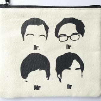 The Big Bang Theory Heads Coin Purse