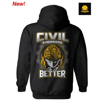 The Builder Apparel 01 DO IT BETTER-HOODIE no zip-black Civil Engineering Hoodie by Xtreme Designs