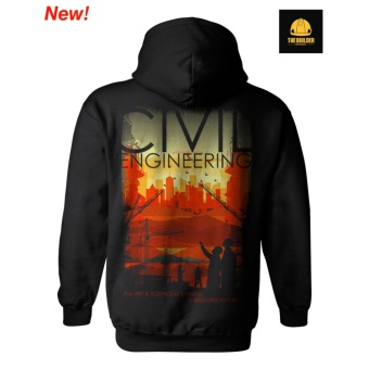 The Builder Apparel - ART AND SCIENCE - Civil Engineering Adult Hoody w/o zip by Xtreme Designs