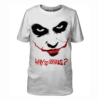 The Dark Knight Rise Joker Shirt T-shirt Tops Cosplay (White) -Intl