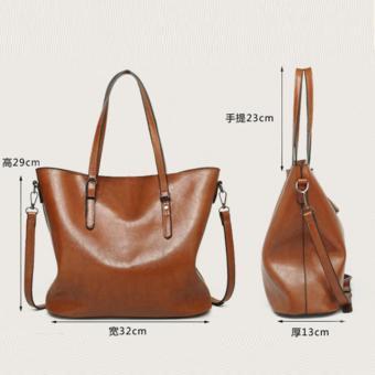 The Large Capacity Shoulder Bag Lady Fashion Canvas Shoulder Bag (Black) - intl - 4