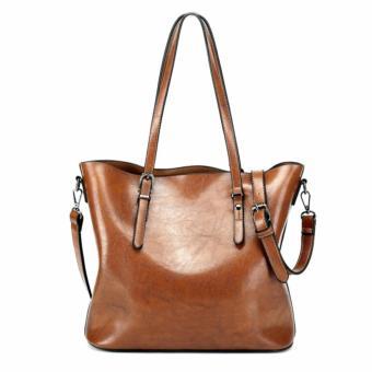 The Large Capacity Shoulder Bag Lady Fashion Canvas Shoulder Bag (Black) - intl - 3