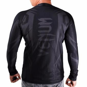 Thermal Compression Rash Guard Long Sleeve Top (Black/Grey) - 4
