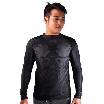 Thermal Compression Rash Guard Long Sleeve Top (Black/Grey)