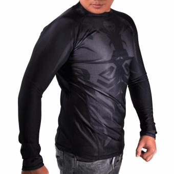 Thermal Compression Rash Guard Long Sleeve Top (Black/Grey) - 2