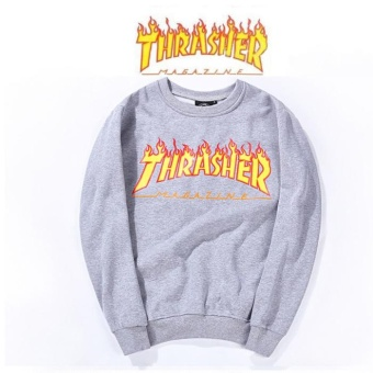 Thrasher Sweaters Couple Fashion casual locomotive jacket Print breathable rash guards