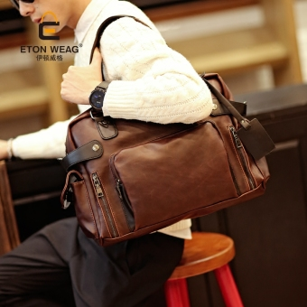 Tidog new men's bags tide restoring ancient ways men file computer bag leisure single shoulder bag tote bag - intl - 2