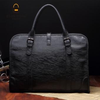 Tidog The new hand woven bag Korean men's casual handbag shoulder business tote bag - intl - 4
